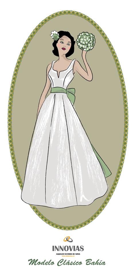 Vestidos y trajes de novia en alquiler o renta de Innovias (3/6)