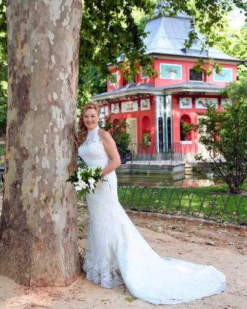 peinado para vestido de novia cuello alto – hermosos peinados
