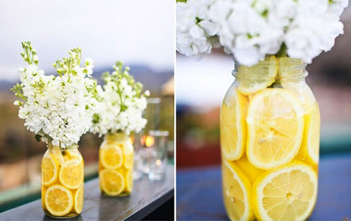 Rodajas de lim n innovias - Centros de mesa con limones ...
