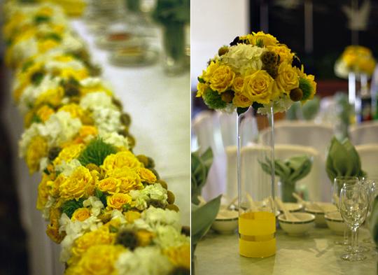 Bodas en amarillo innovias - Centros de mesa con limones ...