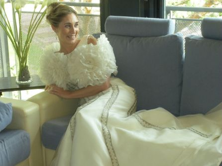 silvia con vestido de novia Innovias
