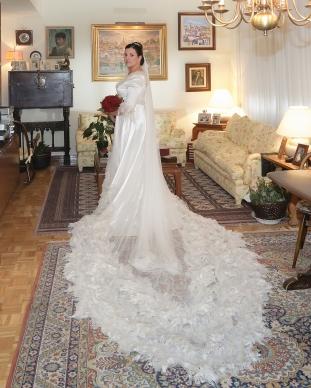 Paloma con vestido Innovias