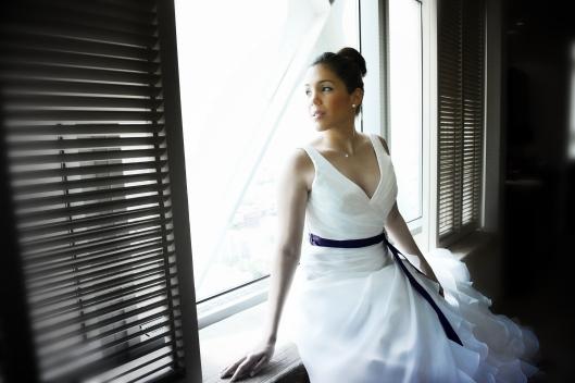 Sandrina  con vestido de novia Innovias