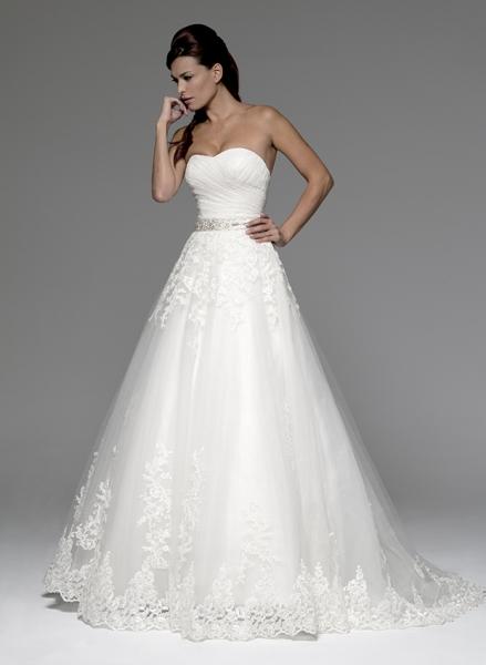Vestidos de novia con corte ala cadera
