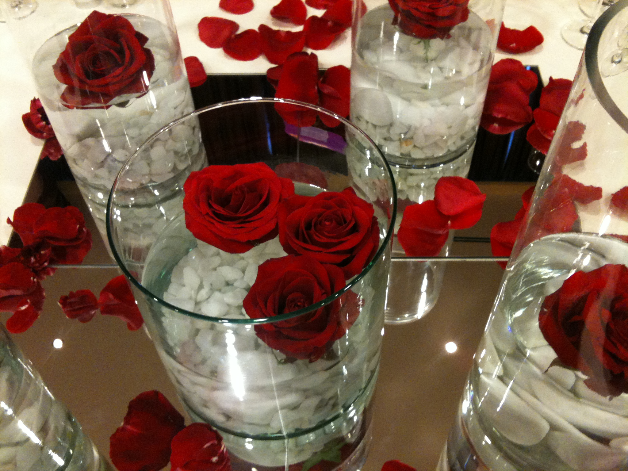 Flores en centro de mesa tattoo design bild - Centros de mesa con flores ...
