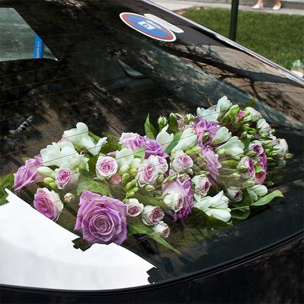 adornos flores para coche de boda innovias