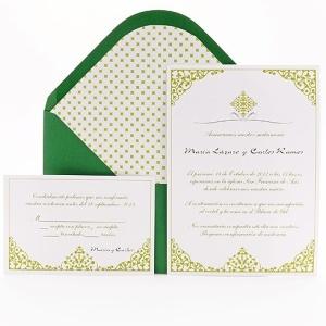 invitaciones de boda en emerald