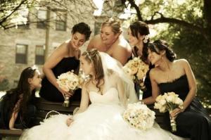 las damas de honor de la boda