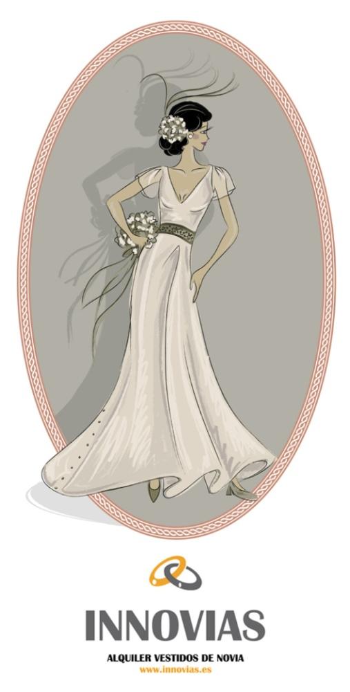 Vestidos y trajes de novia en alquiler o renta de Innovias (2/6)