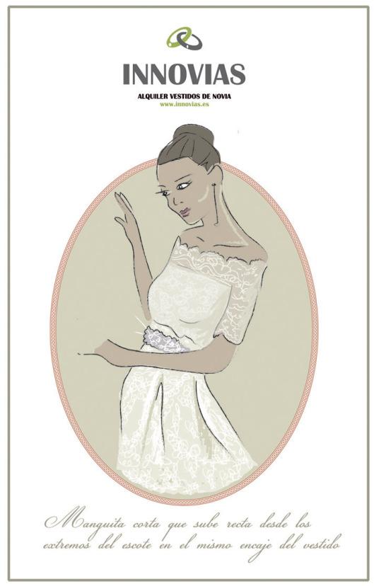 Vestidos y trajes de novia en alquiler o renta de Innovias (1/6)