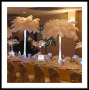 decoracion-mesa-plumas