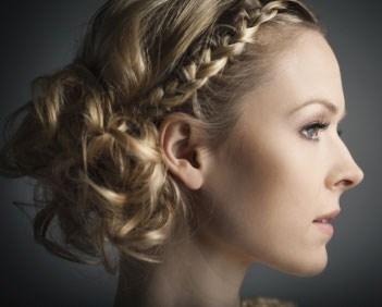 Peinado recogido romantico hippie