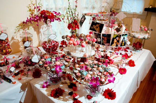 Wedding Trend Candy Bar and Cupcakes