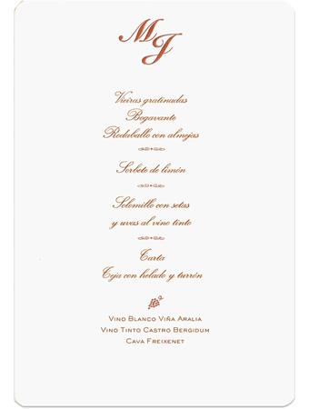 Lo más habitual es que el menú de boda esté compuesto de un ...