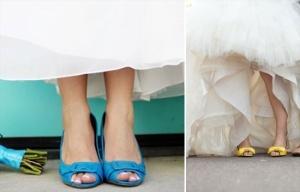 zapatos coloresnovia