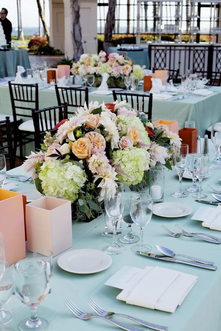 Bodas en verde menta innovias - Mesas decoradas para bodas ...