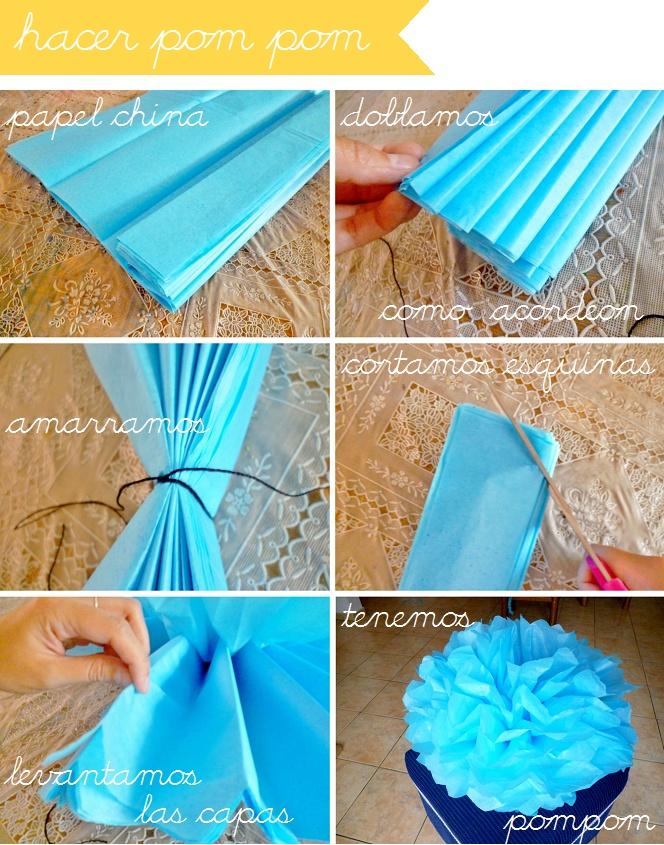 Decora con pompones … Wedding DIY