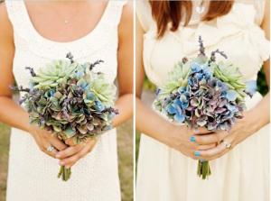 uñas azules de novia