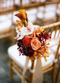 detalle para sillas boda otoño