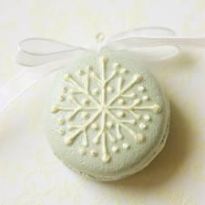 macarons tematica nieve