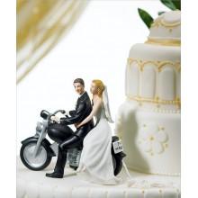figuras de novios en-moto