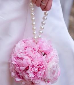 pink-peony-ramo de novia bolso