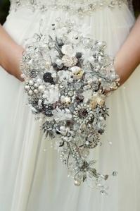 teardrop shower brooch bouquet