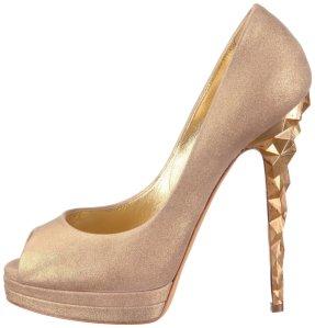 zapatos dorados casadei 2