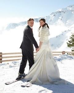 boda-esquiando