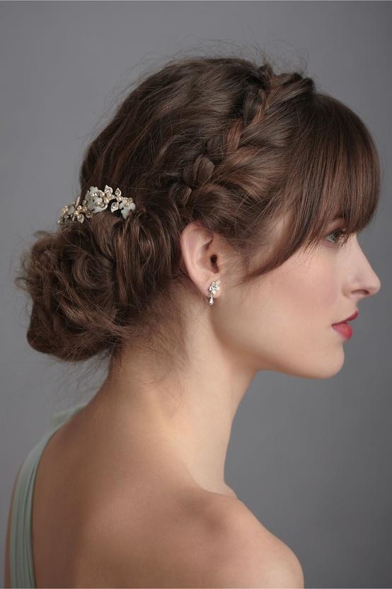 Peinados de novia con flequillo 2014 innovias - Peinado para boda de dia ...