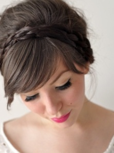 peinado de novia flequillo ladeado