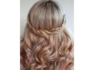 peinado suelto novia trenzas 2014