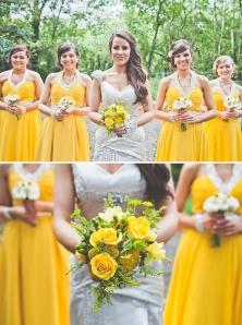 ramos de novia y damas de honor