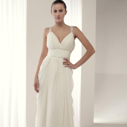 Vestido novia corte helenico