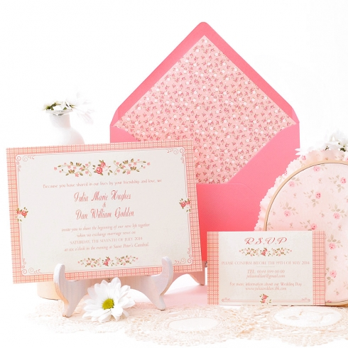La vie en rose en tu boda innovias for Tarjetas de 15 anos vintage