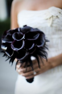 ramo novia negro