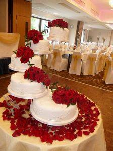 Tortas de Boda Blanco y Rojo 4