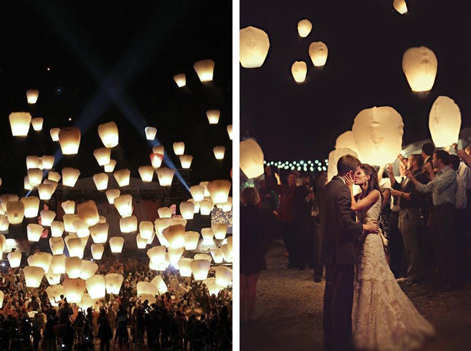 Ilumina la noche con los deseos de boda con globos de luz for Farolillos de decoracion