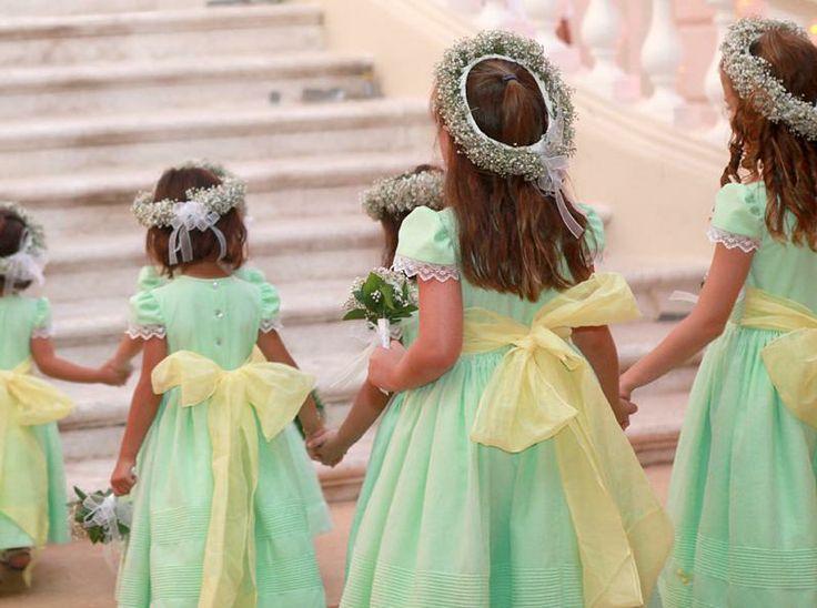 Vestidos para pajes de boda 2014