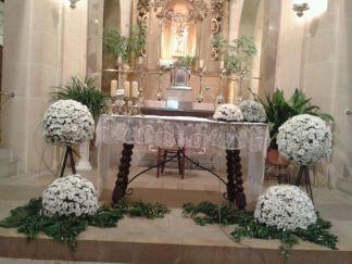 decoracion iglesia margaritas