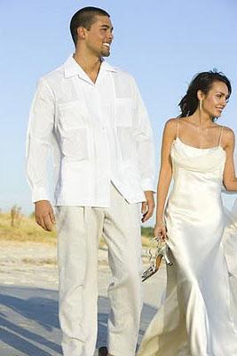 vestido de novio con guayabera