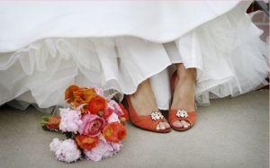 zapatos de novia naranjas
