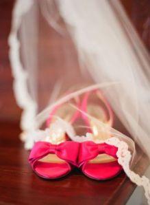 zapatos de novia rosa chicle