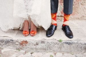 zapatos novia naranja