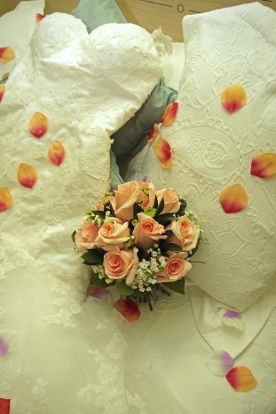 bouquet de novia rosas
