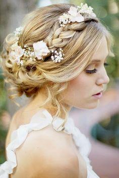 peinado novia natural
