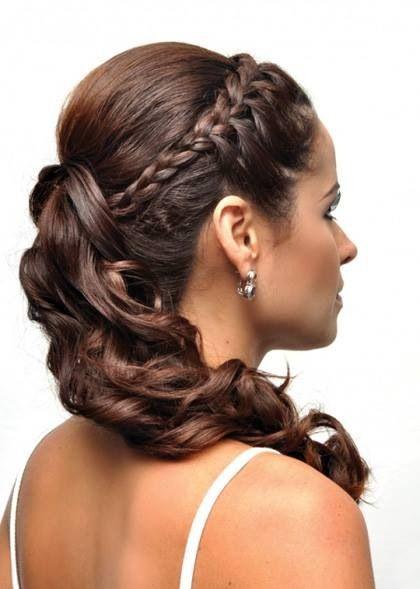 Peinados de novia con trenzas innovias - Peinados de semirecogido ...