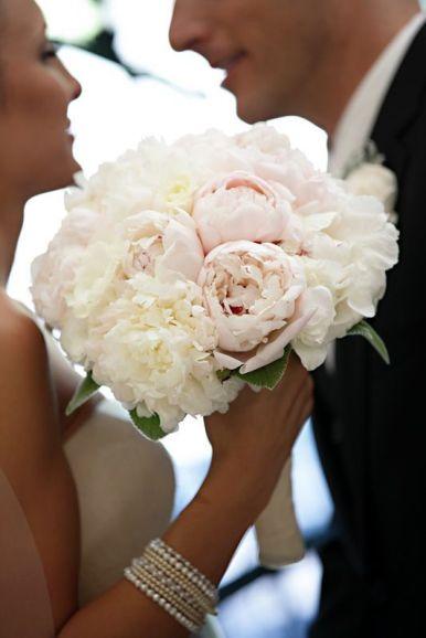 ramo novia peonias