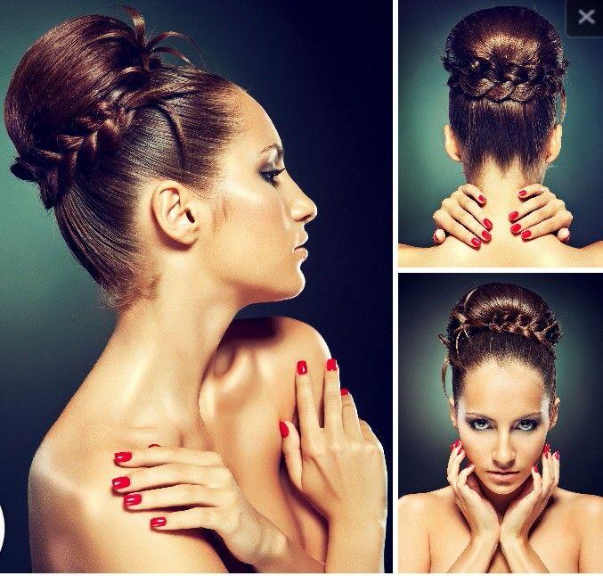 Peinados con trenzas innovias for Recogidos altos para novias