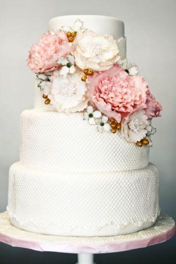 tartas boda con flores